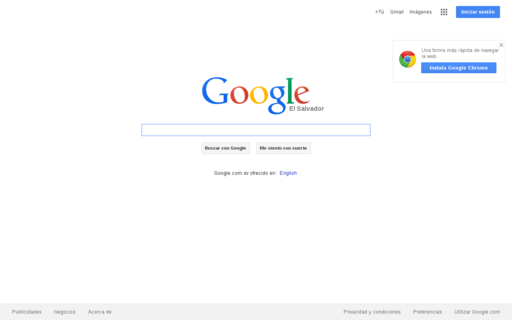 Access google.com.sv using Hola Unblocker web proxy