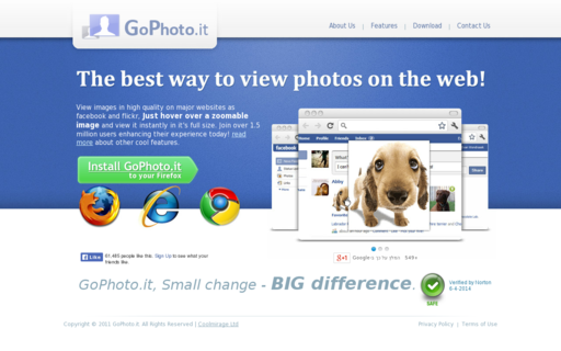Access gophoto.it using Hola Unblocker web proxy