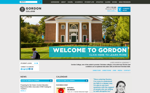 Access gordon.edu using Hola Unblocker web proxy