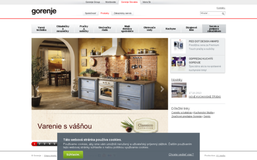 Access gorenje.sk using Hola Unblocker web proxy
