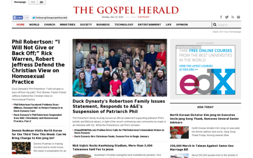 Access gospelherald.com using Hola Unblocker web proxy