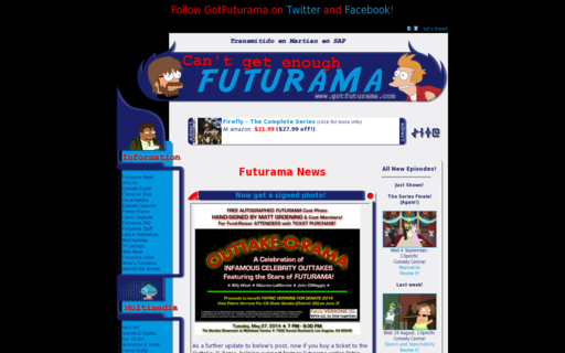 Access gotfuturama.com using Hola Unblocker web proxy