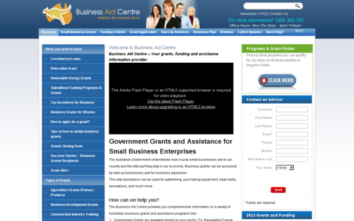 Access governmentgrantsaustralia.org using Hola Unblocker web proxy