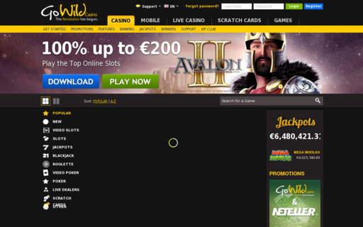 Access gowildcasino.com using Hola Unblocker web proxy