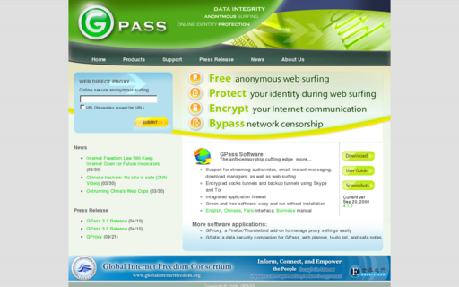 Access gpass1.com using Hola Unblocker web proxy