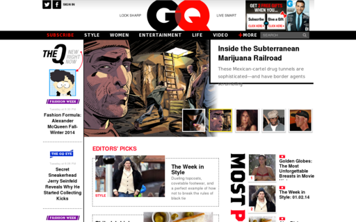 Access gq.com using Hola Unblocker web proxy