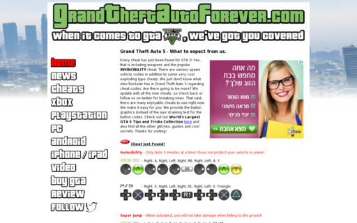 Access grandtheftautoforever.com using Hola Unblocker web proxy
