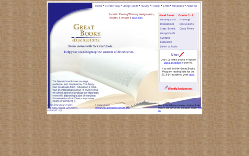 Access greatbooksdiscussions.org using Hola Unblocker web proxy