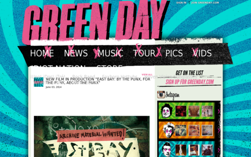 Access greenday.com using Hola Unblocker web proxy