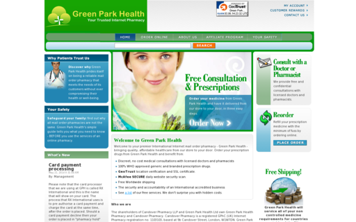 Access greenparkhealth.com using Hola Unblocker web proxy