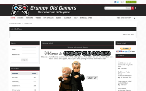 Access grumpyoldgamers.co.uk using Hola Unblocker web proxy