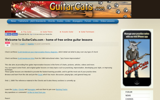 Access guitarcats.com using Hola Unblocker web proxy