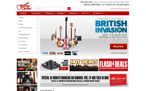 Access guitarcenter.com using Hola Unblocker web proxy