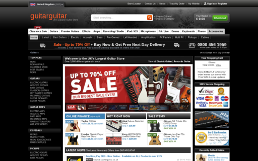Access guitarguitar.co.uk using Hola Unblocker web proxy