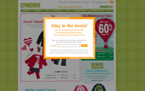 Access gymboree.com using Hola Unblocker web proxy
