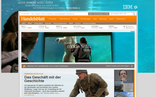 Access handelsblatt.com using Hola Unblocker web proxy