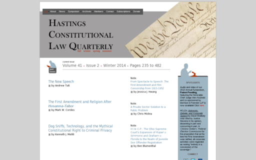 Access hastingsconlawquarterly.org using Hola Unblocker web proxy