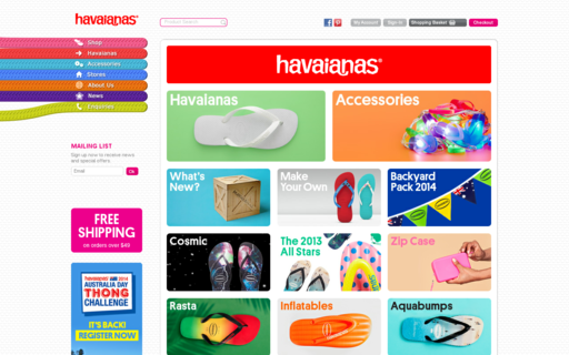 Access havaianasaustralia.com.au using Hola Unblocker web proxy