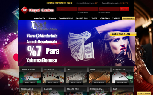 Access hayalcasino.com using Hola Unblocker web proxy