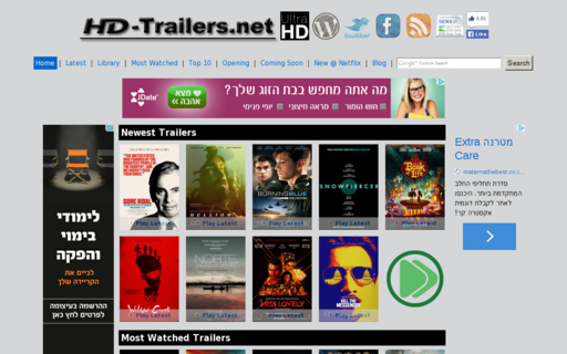 Access hd-trailers.net using Hola Unblocker web proxy