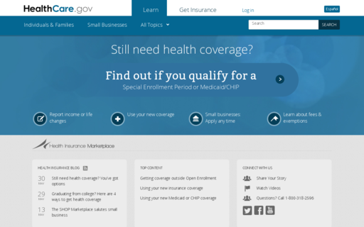 Access healthcare.gov using Hola Unblocker web proxy