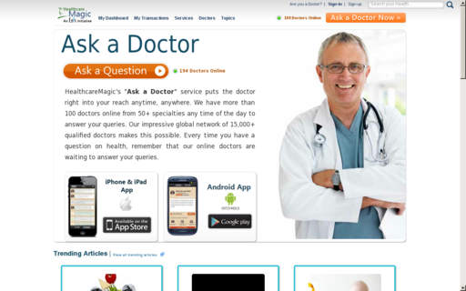 Access healthcaremagic.com using Hola Unblocker web proxy