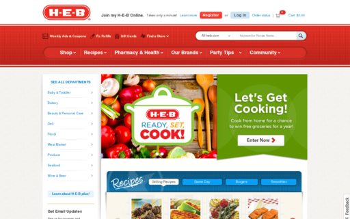 Access heb.com using Hola Unblocker web proxy