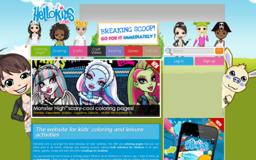 Access hellokids.com using Hola Unblocker web proxy