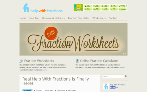 Access helpwithfractions.com using Hola Unblocker web proxy