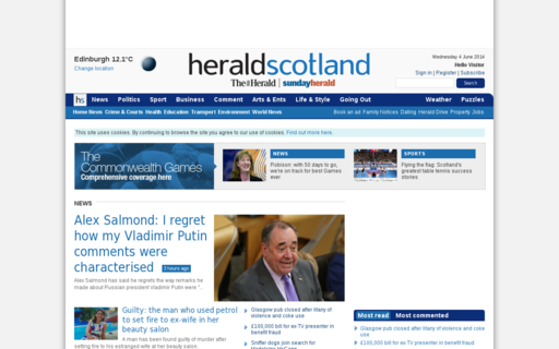 Access heraldscotland.com using Hola Unblocker web proxy