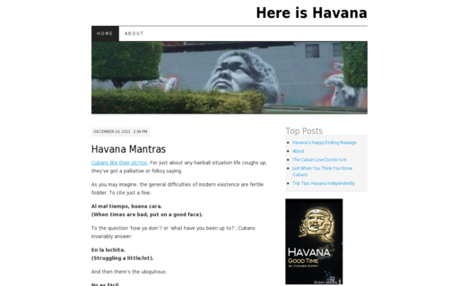 Access hereishavana.com using Hola Unblocker web proxy