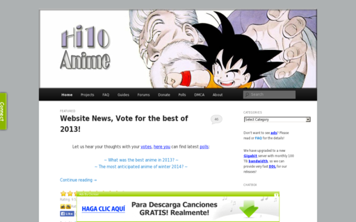 Access hi10anime.com using Hola Unblocker web proxy