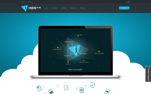 Access hide.io using Hola Unblocker web proxy