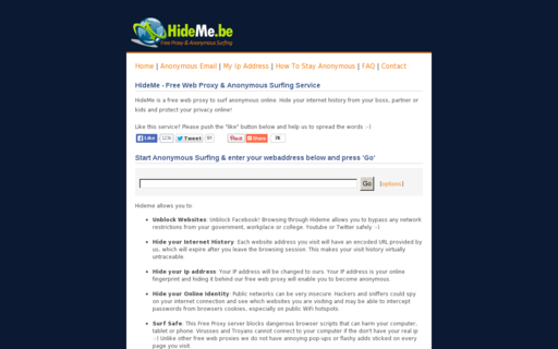 Access hideme.be using Hola Unblocker web proxy