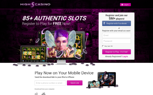 Access high5casino.net using Hola Unblocker web proxy