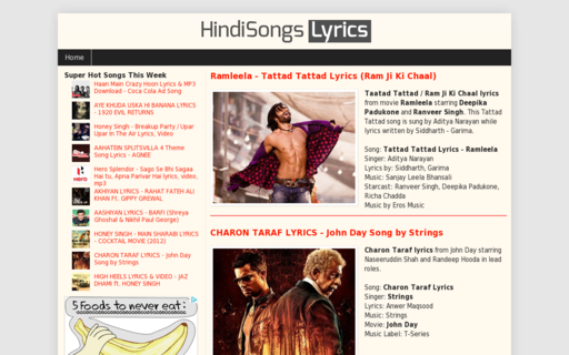 Access hindisongslyrics.in using Hola Unblocker web proxy