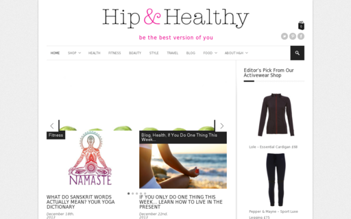 Access hipandhealthy.co.uk using Hola Unblocker web proxy