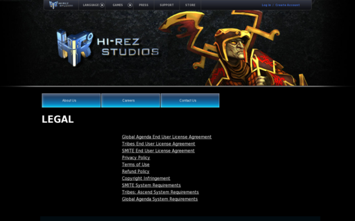 Access hirezstudios.com using Hola Unblocker web proxy