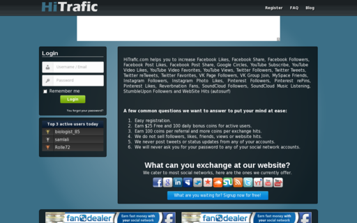 Access hitrafic.com using Hola Unblocker web proxy