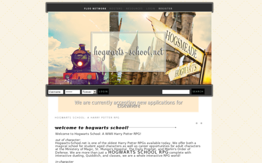 Access hogwarts-school.net using Hola Unblocker web proxy