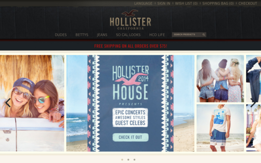 Access hollisterco.ca using Hola Unblocker web proxy