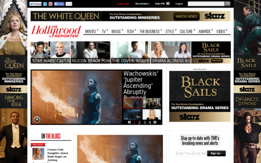 Access hollywoodreporter.com using Hola Unblocker web proxy