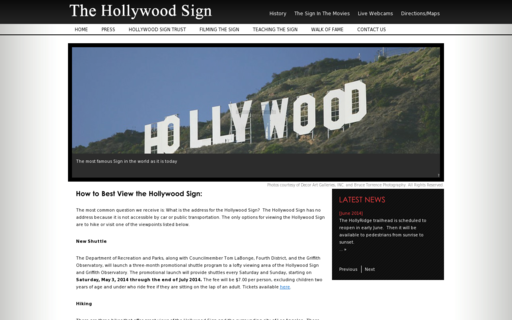 Access hollywoodsign.org using Hola Unblocker web proxy