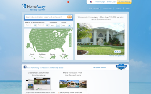 Access homeaway.com using Hola Unblocker web proxy