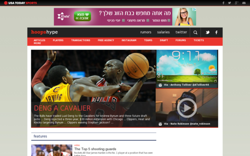 Access hoopshype.com using Hola Unblocker web proxy