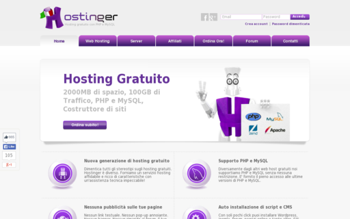 Access hostinger.it using Hola Unblocker web proxy