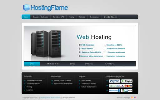 Access hostingflame.org using Hola Unblocker web proxy
