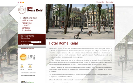 Access hotel-romareial.com using Hola Unblocker web proxy