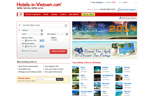 Access hotels-in-vietnam.com using Hola Unblocker web proxy