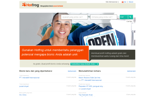 Access hotfrog.co.id using Hola Unblocker web proxy